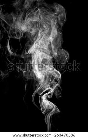 abstract white smoke on black...