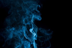 abstract white smoke on white background, smoke background ,blue smoke background