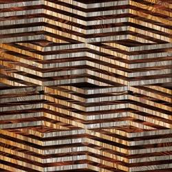 Abstract winding pattern - zig zag chevron style - decorative panels - Interior Design wallpaper - seamless background - wood floors