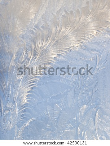 Abstract window frost background - stock photo