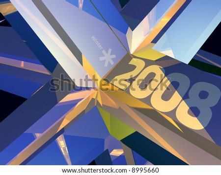 Abstract winter illustration