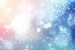 Abstract winter snow background. Merry Christmas 2020 blue sky and sun