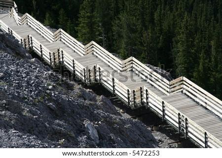 abstract wooden boardwalk