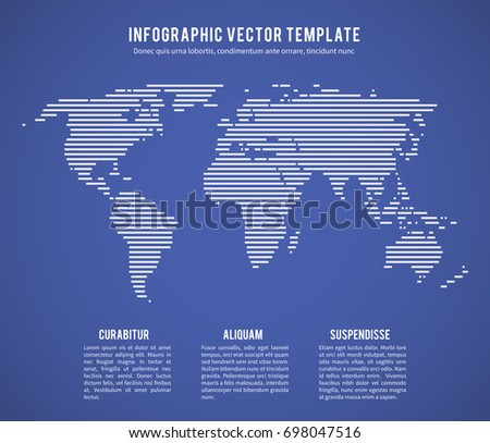 abstract world map with horizontal line texture template for