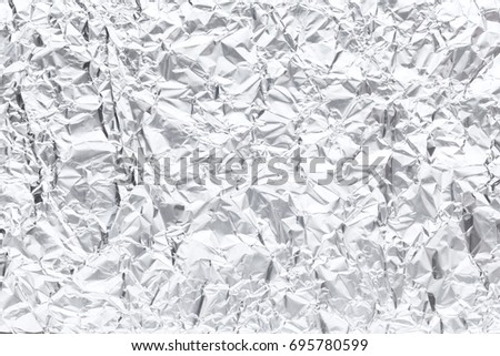 Abstract wrinkled aluminum foil background