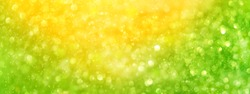 abstract yellow-green beautiful shiny background with light bokeh. banner