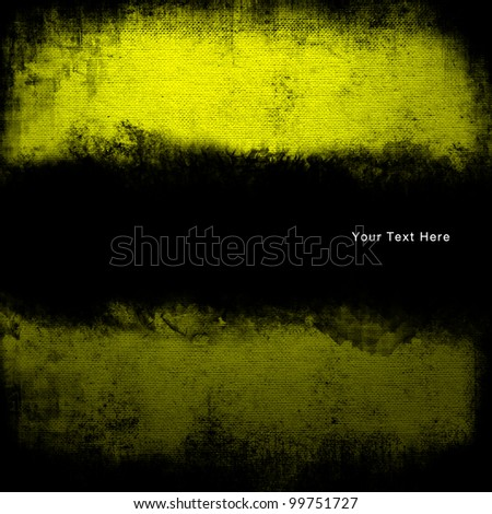 Abstract yellow grunge and copyspace for title or text