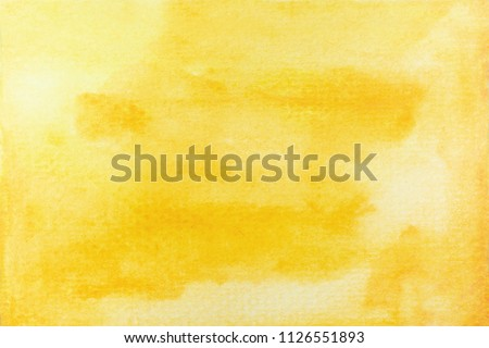 abstract yellow or gold watercolor background. art hand paint #1126551893