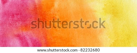 Abstract yellow, red and orange watercolor background