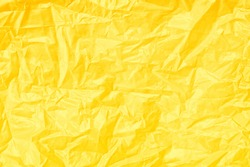 Abstract yellow texture, Yellow plastic texture, Plastic bag for background, Yellow background