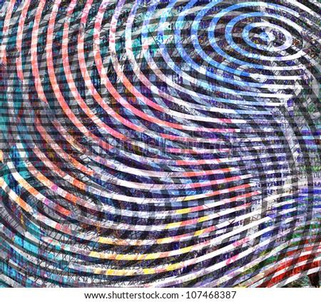 abstract zen background, digital collage