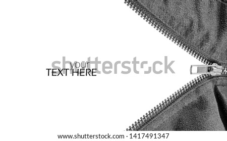 Photo of  Abstract zipper with the copy space