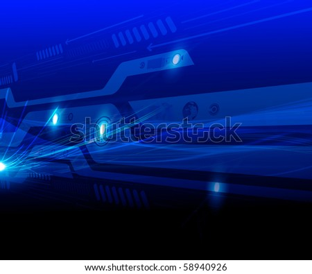 Abstraction blue background in high-tech style