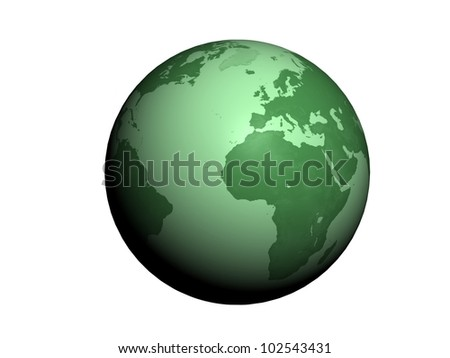 abstraction ecology 3D Globe