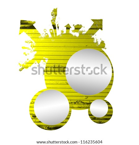 abstraction of yellow circles