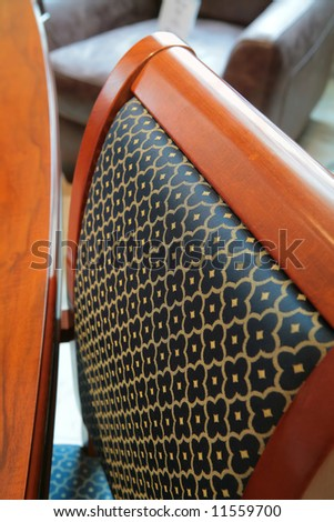 abstraction, pattern on back of the chair, expensive furniture #11559700