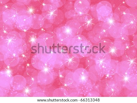 Abstraction pink  starry background for card and other design