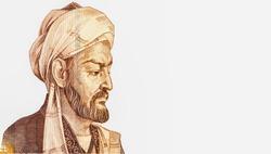 Abu Ali ibn Sina (Avicenna), great scientist, Persian encyclopaedist of the Tajik people. Portrait from Tajikistan  Banknotes.