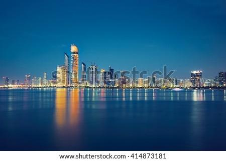 Abu Dhabi skyline - United Arab Emirates