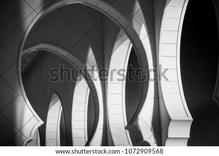 Abu Dhabi UAE Architecture Mosque - Shutterstock ID 1072909568