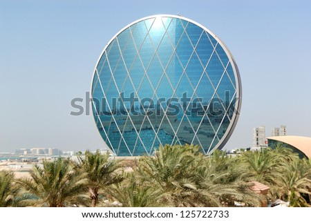 ABU DHABI, UAE - JUNE 11: The Aldar headquarters building is the first circular building of its kind in the Middle East on June 11, 2012 in Abu Dhabi, UAE