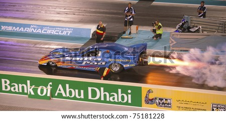 ABU DHABI, UAE - MARCH 4: Hot Rod Fuller set a new UAE record at the ...