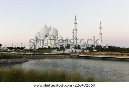 abu dhabi zayed mosque united emirate