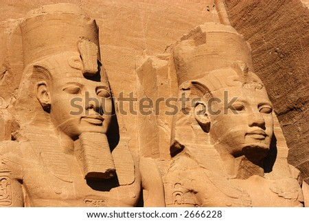 Abu Simbel faces, Egypt, Africa