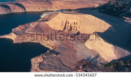 ABU SIMBEL from Above, EGYPT