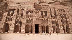 Abu Simbel Temple in Egypt while `Nile cruise