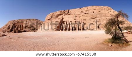Abu Simbel Temple of King Ramses II, and temple of queen Nefertari