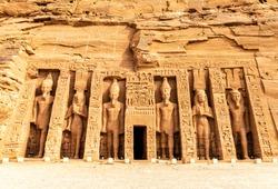 Abu Simbel, the Small Temple ofHathorandNefertari, Egypt