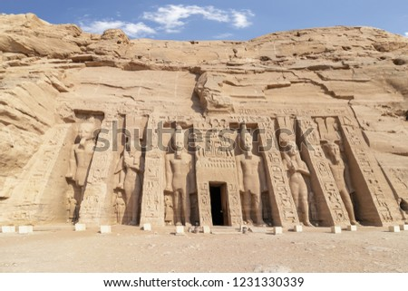 Abu Simbel, the temple of Hathor and Nefertari, also known as the Small Temple, Egypt #1231330339