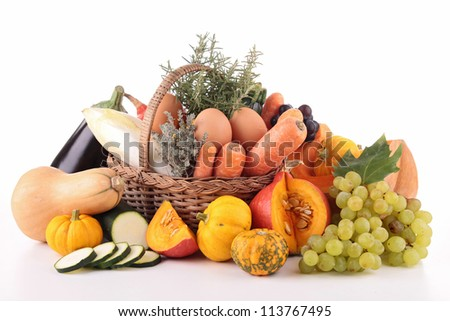 abundance of vegetable and fruit