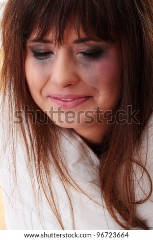 stock photo : Abused teen girl