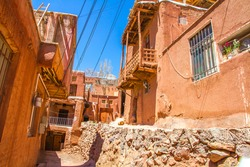 Abyaneh village with the red clay houses, Isfahan province, Iran.