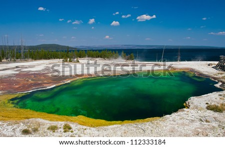 Abyss Pool in Yellowstone National Park