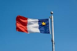Acadian Flag in Lunenburg, Canada