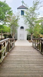 Acadian Village Chapel in the Spring