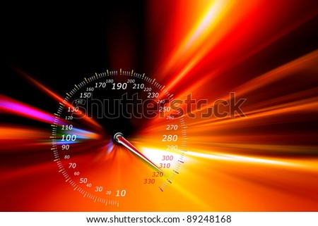 acceleration speed motion on night highway
