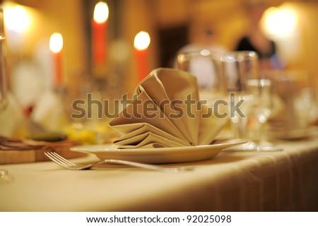 accent of decorative napkin