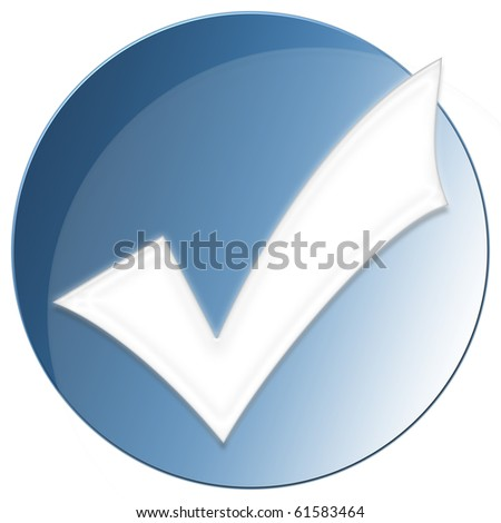 Accept Icon - blue color