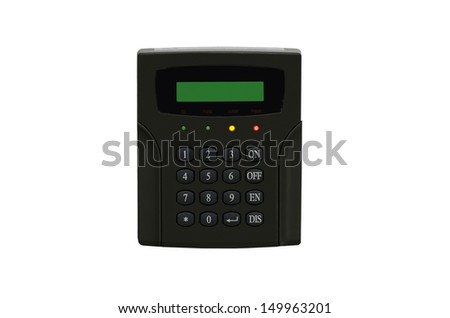 access control on white background