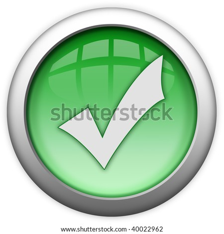 Access granted green button