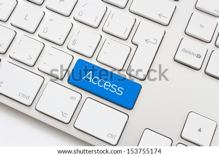 Access key on a white keyboard
