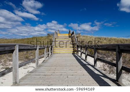 Access trail on the Crane beach, Ipswitch, Massachusetts, USA