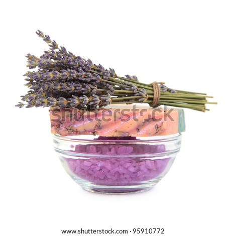Accessories for spa. Isolated on white background