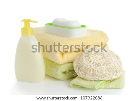 accessory for spa or sauna over white background