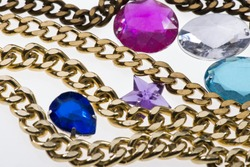 Accessory Golden Symbol Shiney Trimming Object Necklace Female