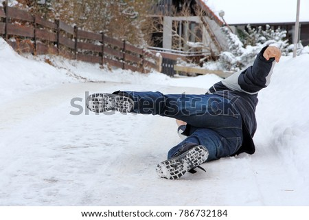 accident danger in winter. a...